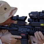 T60 CLIP on thermal weapon sight with ACOG scope